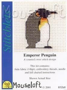 Mouseloft Emperor Penguin Stitchlets cross stitch kit